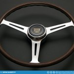 Saab Sport wood steering wheel restoration finished! Now I can hang it on my living room wall to wait for restoration of rest of the car.