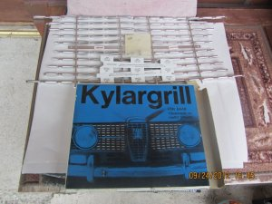 """Saab 96 """"kylargrill"""", a full chrome decoration for the long-nose stroker."""