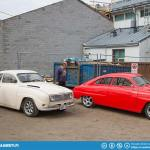 Two custom Saab 96 V6.