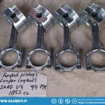 Saab 96 V4 forged pistons with longer connecting rods.
