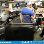 Mattias has a proper old school garage and knows a thing or two about two stroke Saabs...