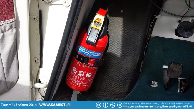 And I bought a little 2kg fire extinguisher for the car.