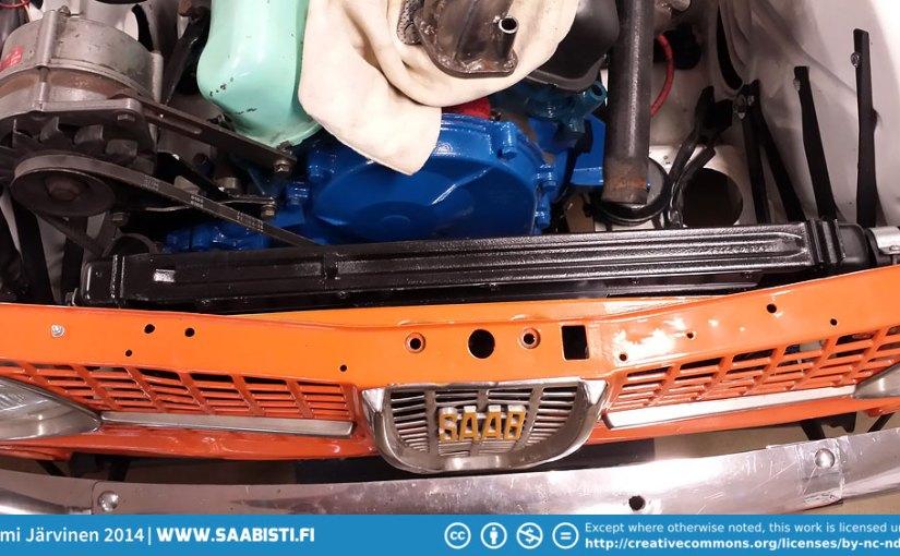 Saab 96 V4 Rally – Fitting the Saab 99 radiator