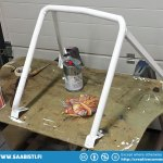 To give them at least some protection we made this little rollcage.