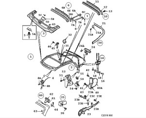 00 Saab 9 3 Convertible Body Parts  Wiring Diagram And