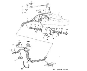 Fuel system, Fuel pipe, Fuel filter