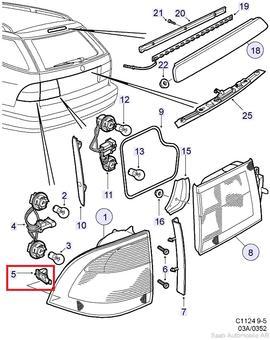 Saab 95 5D Tail Light Clip[5404215]