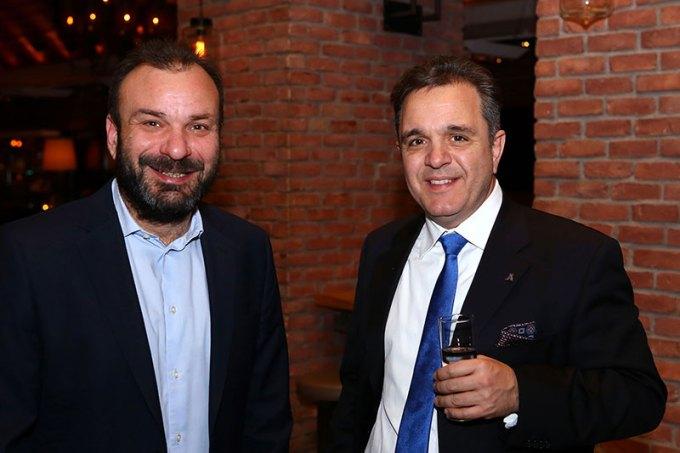 Ο Ταμίας Δ.Σ. ΣΑΑΚ Ανατόλια κ. Μιχάλης Μουταφίδης με τον Πρόεδρο Δ.Σ. ΣΑΑΚ Ανατόλια κ. Κωνσταντίνο Χατζηιωάννου