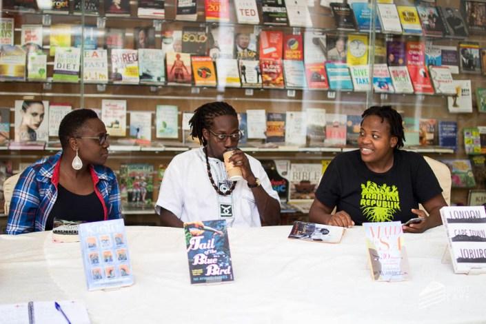 Jennifer Nansubuga Makumbi, Nii Ayikwei Parkes, Zukiswa Wanner