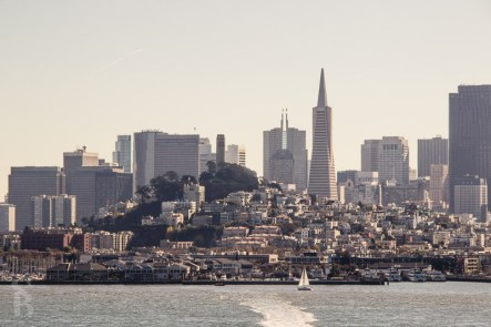 The city view from Alcatraz