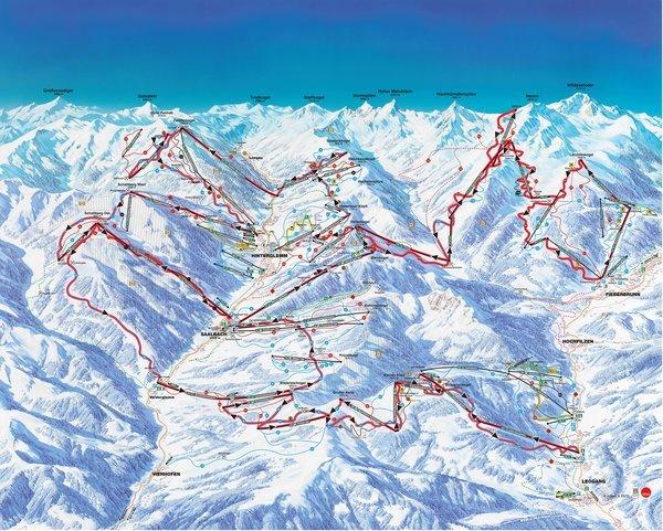 Ski-Erlebnis Saalbach Leogang Hinterglemm Pisten