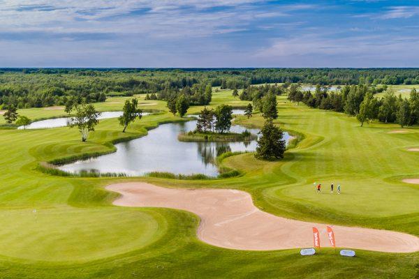 Saare Golf hole 9 and 18