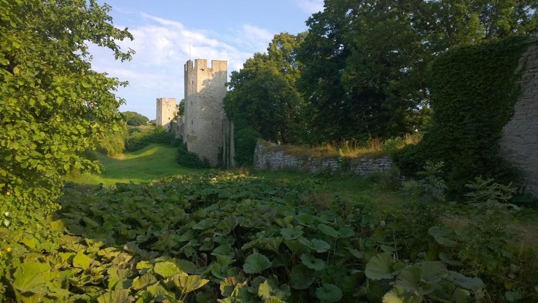 Visbyn kaupungin muurit ovat todella hienossa kunnossa.