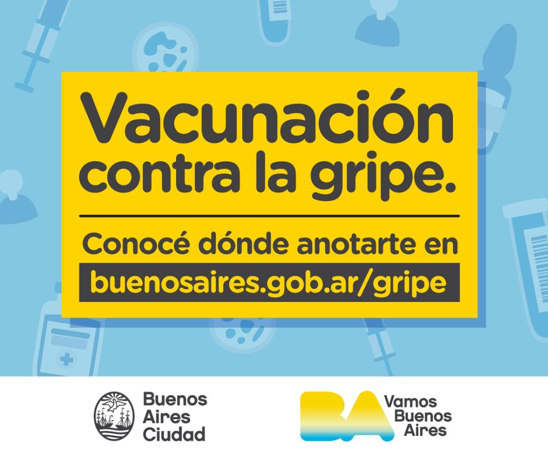 Vecinales GCBA – Mayo 2021 –  Campaña Gripe
