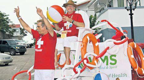 Health care provision during Saba Carnival. (Z*e photography)