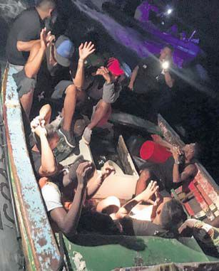 Cuban immigrants found by Coast Guard officers.