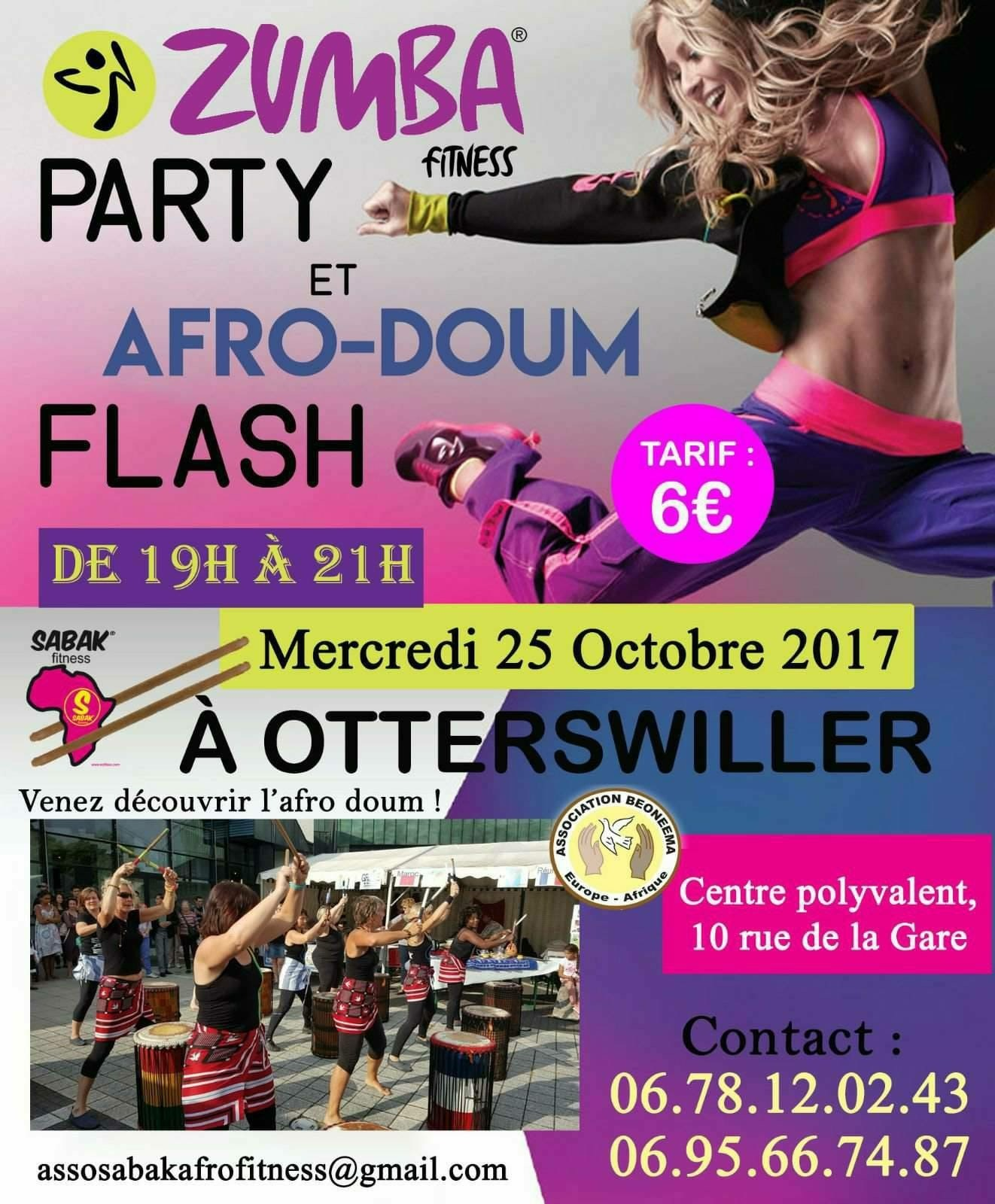 ZUMBA PARTY ET AFRO-DOUM FLASH