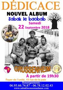 SOIRÉE AFRICAINE ET DÉDICACE DE L'ALBUM À GRUSSENHEIM