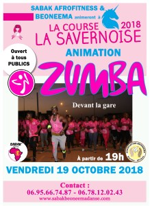 ANIMATION ZUMBA À LA COURSE LA SAVERNOISE
