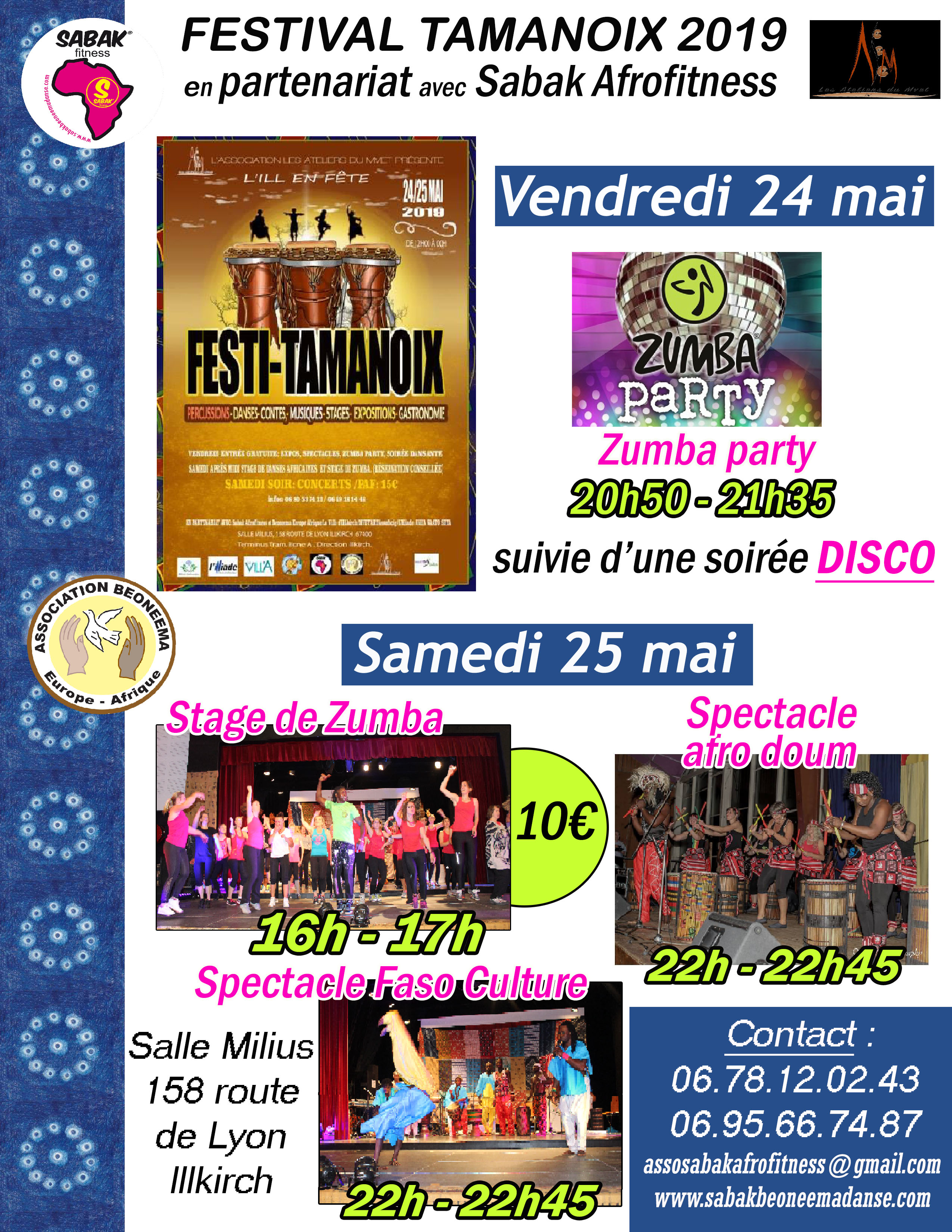 FESTIVAL TAMANOIX À ILLKIRCH les 24 & 25 MAI 2019