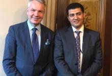 الرعيني يلتقي وزير الخارجية الفلندي
