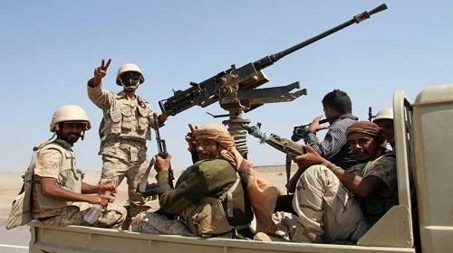 مدفعية الجيش الوطني تدمر تعزيزات حوثية بمحافظة حجة