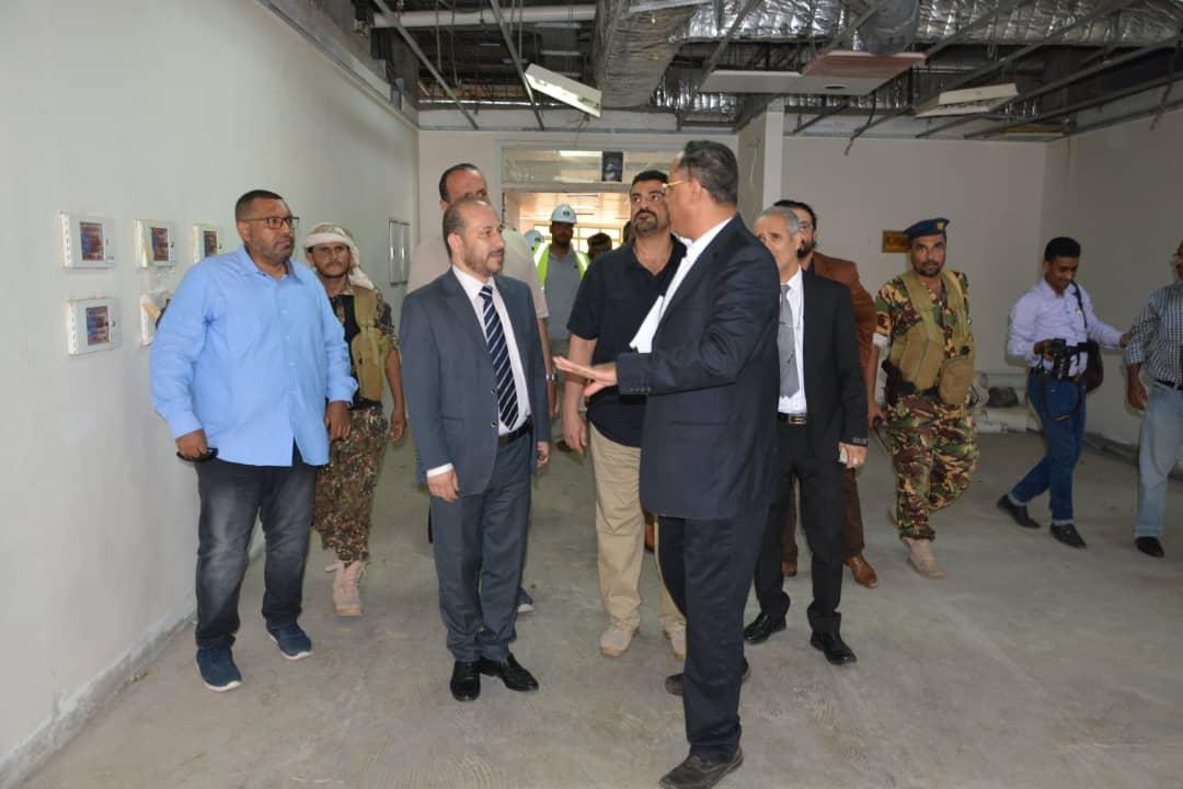 وزير التخطيط ومحافظ عدن يطلعان على مشروع تأهيل مستشفى عدن ومركز القلب