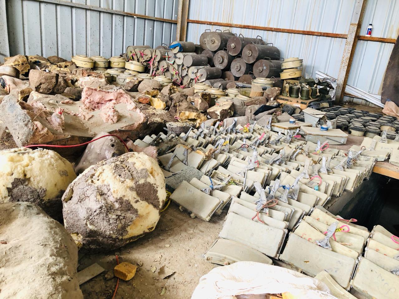 الجيش الوطني يتلف 430 لغماً في باقم بصعدة