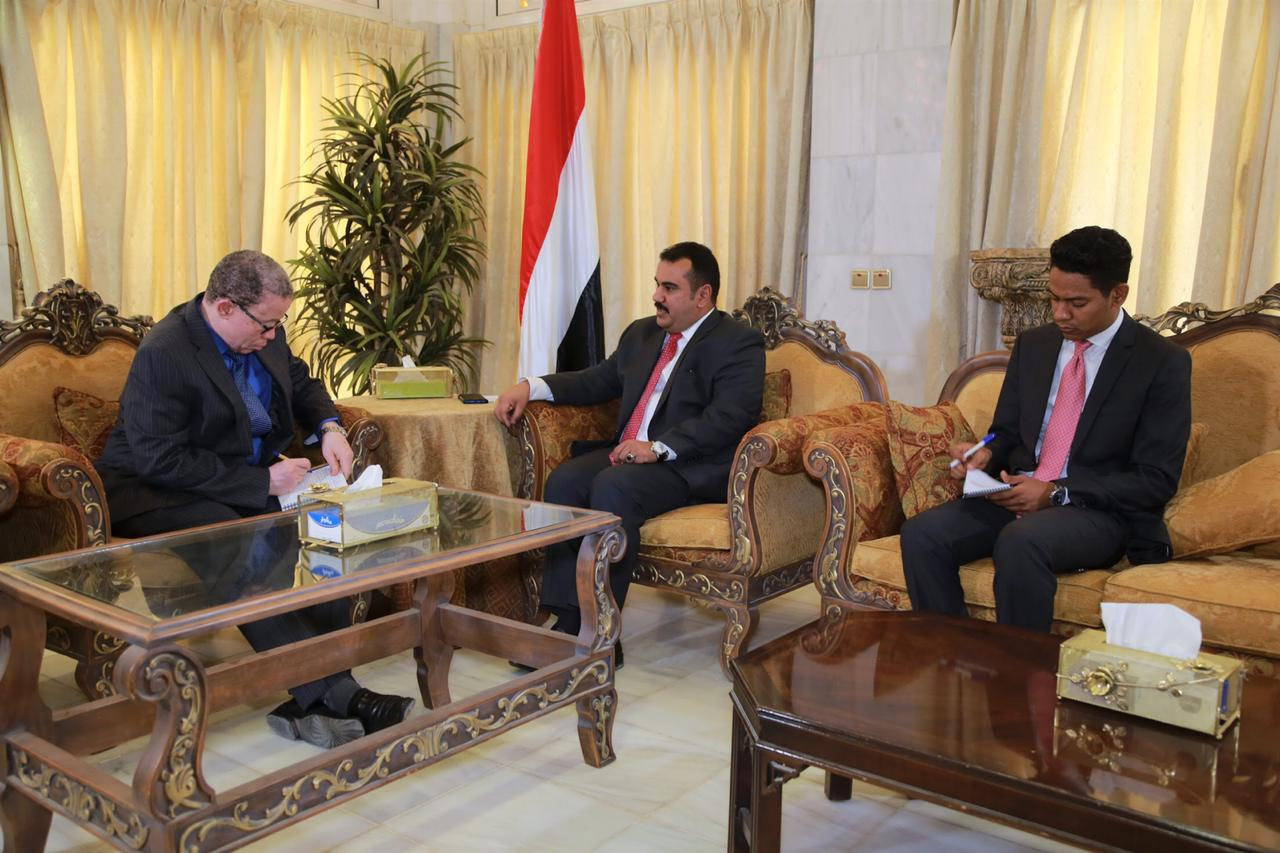 Photo of العود يلتقي سفير جنوب أفريقيا غير المقيم لدى اليمن