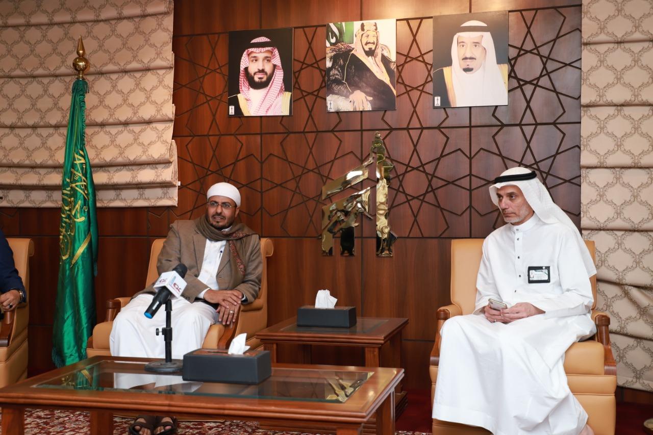 وزير الأوقاف يلتقي ممثلي المؤسسة الأهلية للطوافة بمكة المكرمة