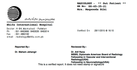 Liver Tumor Report After Treatment 2