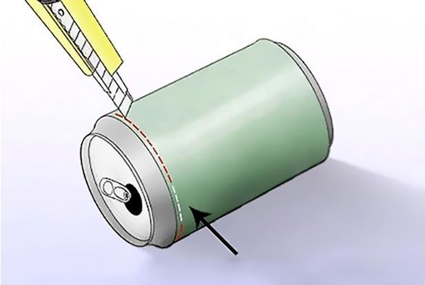 corte reflector lata antena router