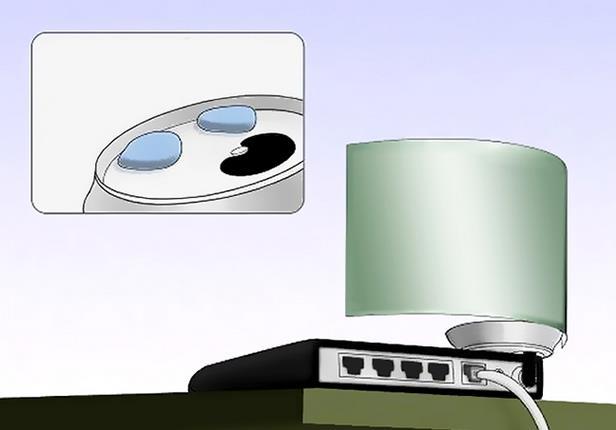 fijacion reflector lata antena router