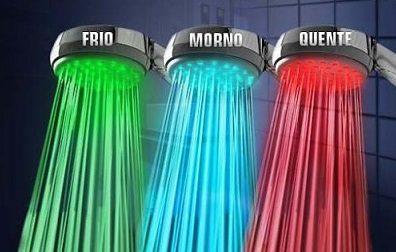 de Chuveiros de LED com emissão de luz