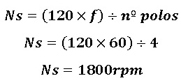 formula para calcular a RPM do motor