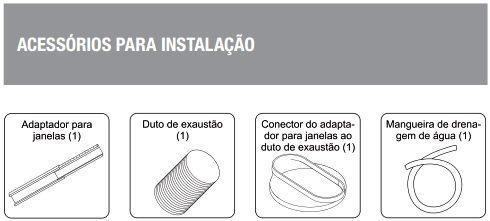 Acessórios para instalação do ar portatil