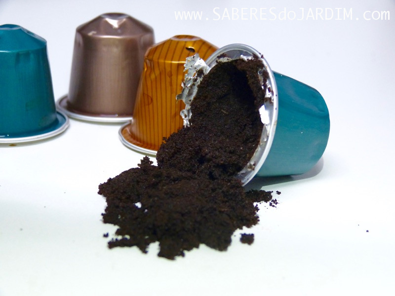 adubo de borra de café - cápsulas