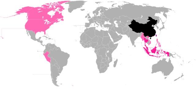 Extensión del chino en el mundo