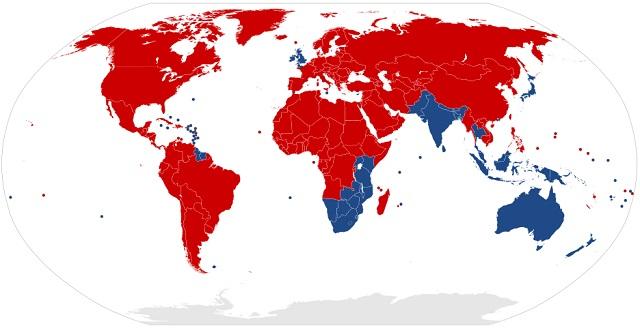 Países que conducen por la izquierda