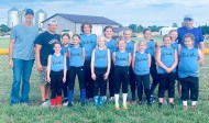 Members of the 10U Sabetha 1 softball team are FRONT ROW (L-R) Avery Rettele, Jaiden Miller, Evva Deters, Halle Renyer, Paycen Schremmer, Madelyn Devore and Dezi Reed; BACK ROW (L-R) Assistant Coach Rixey Wertenberger, Head Coach Jobi Wertenberger, Tynlee Wertenberger, Anna Hennigan, Emrie Niehues, Emery Huning, Tanith Montgomery, Ella Moore and Assistant Coach Andy Moore. Not pictured are Assistant Coach Ben Glace and Lily Sargent.