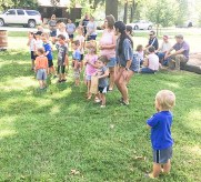 Area youth participate in kids' games during Morrill Days on Saturday, August 14.
