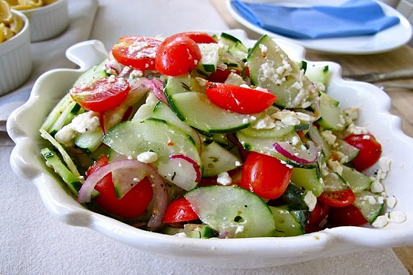 Cucumber-Tomato is with food, so be careful
