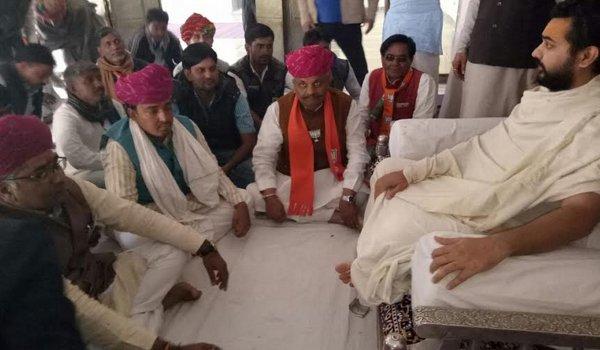 Nimbarkacharya peeth, Shreeji Maharaj,BJP candidate, Ramswaroop Lamba, kishangarh news, ajmer by-election 2018, ajmer bypoll, ajmer news