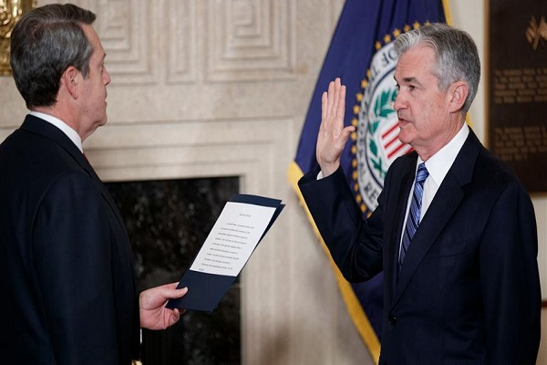 Jerome Powell sworn in as head of the U.S. Federal Reserve