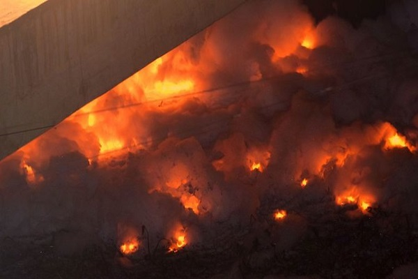 There was a fierce fire in Bangalore's Innovative Film City