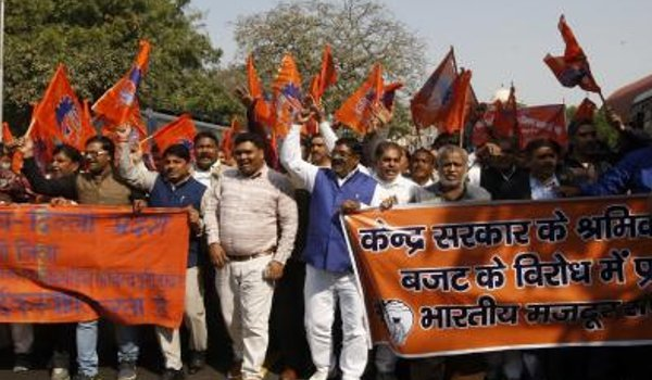 Bharatiya Mazdoor Sangh calls for observing 'black day' on February 20