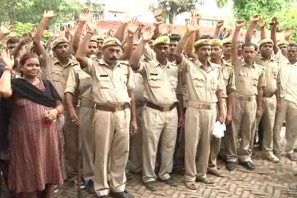 Home Guards on Strike in Rajasthan