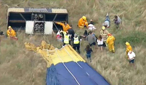 7 injured in hot air balloon crash in Australia