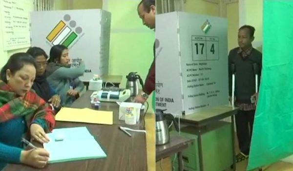 voting underway in meghalaya