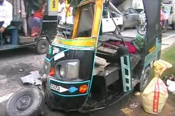 Auto and truck collision